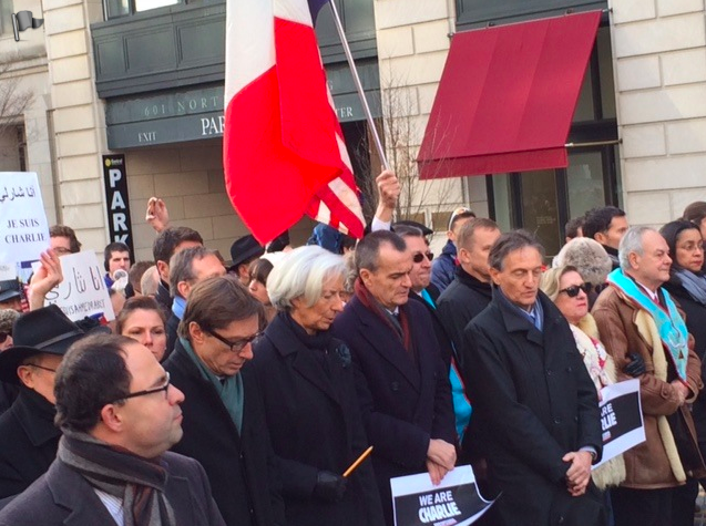 Silent march for terror attacks' victims in Washington DC