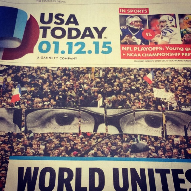 Cover of USA Today on January 12, 2015