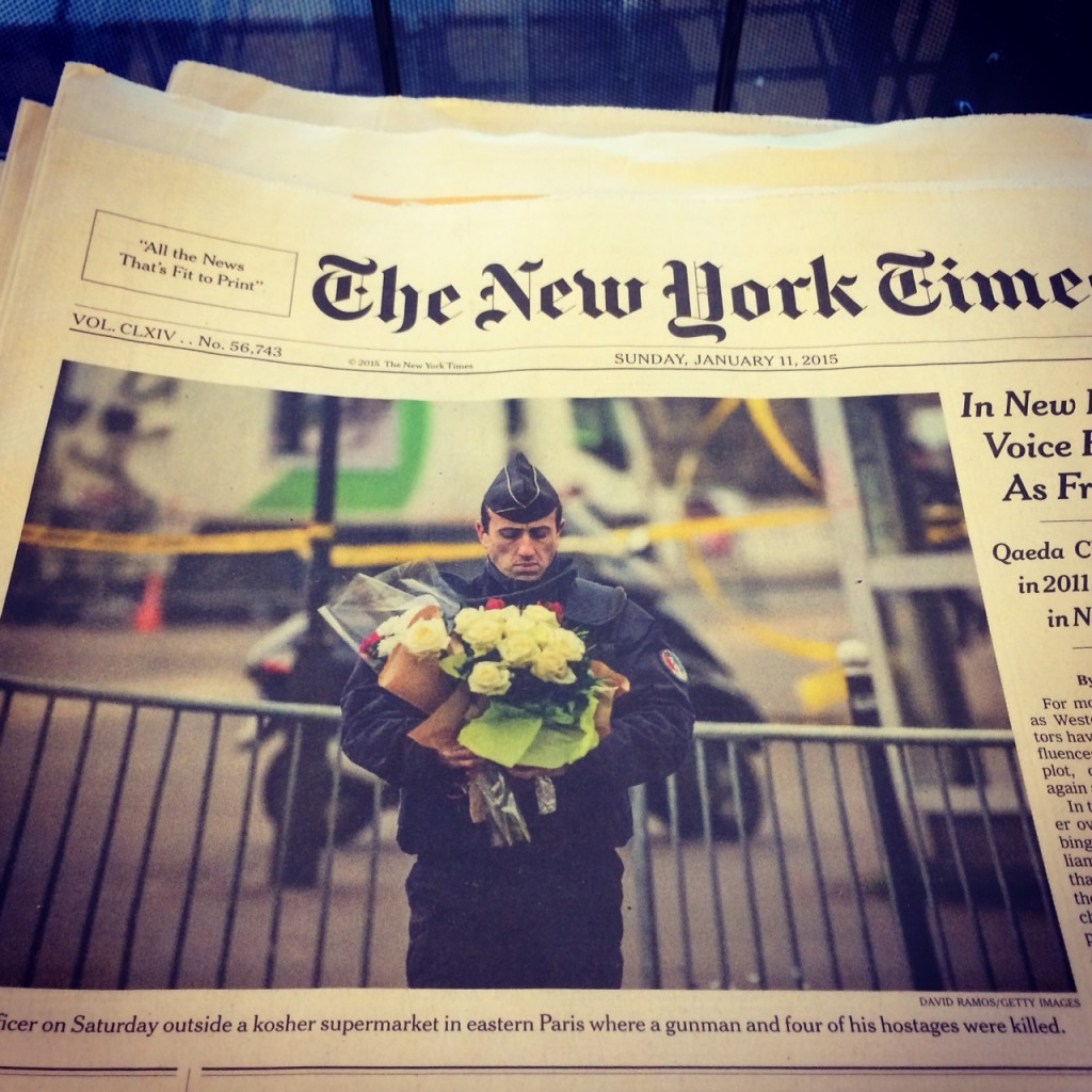 New York Times' cover, January 12th